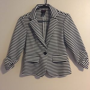 Jackets & Blazers - Flirtations Black and White striped jacket
